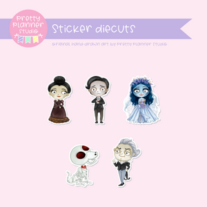 Corpse bride - Moonlight bride | sticker diecuts | MB-921 to MB-931