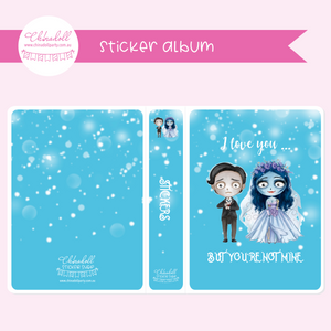 corpse bride - moonlight bride - I love you | sticker album | MB-901