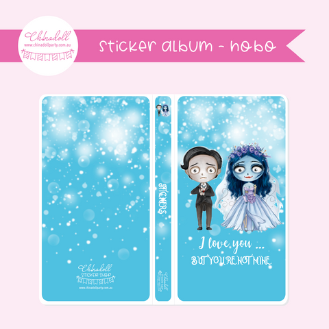 corpse bride - moonlight bride - I love you | sticker album - hobo weeks | MB-901
