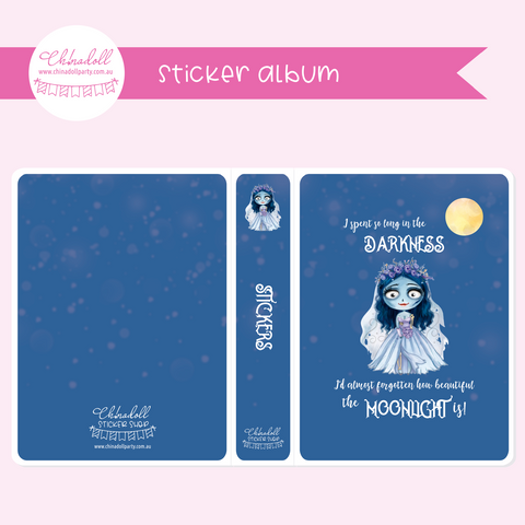 corpse bride - moonlight bride - I spent so long in the darkness | sticker album | MB-902