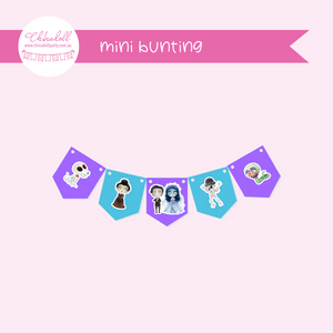 corpse bride - moonlight bride | mini bunting | MB-941