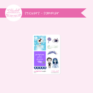 corpse bride - moonlight bride - sampler | sticker sheet | MB-953