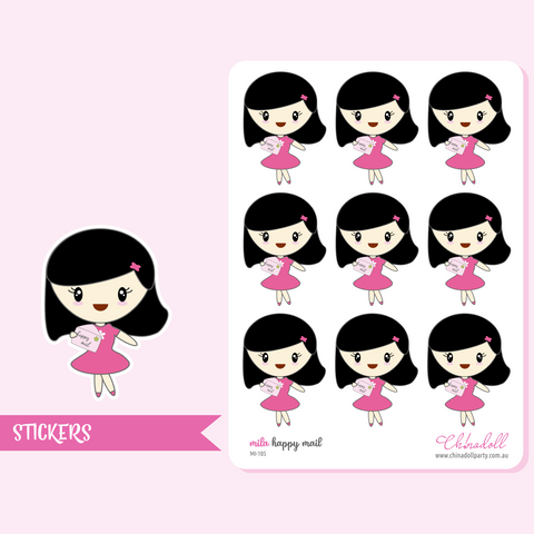 planner girl - mila - happy mail | sticker sheet | MI-105