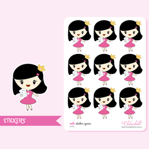 planner girl - mila - sticker queen | sticker sheet | MI-106