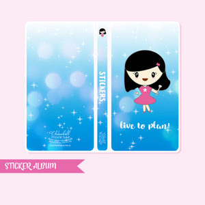 mila - live to plan! - blue sparkle | sticker album - hobo weeks | MI-901