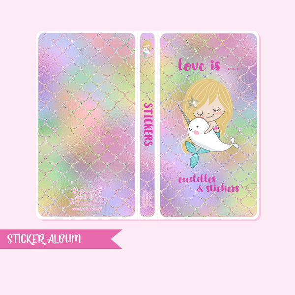 mermaid life - love is cuddles & stickers - mermaid tail rainbow | sticker album - hobo weeks | ML-906