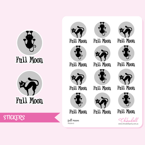 full moon | sticker sheet large | MOON-01