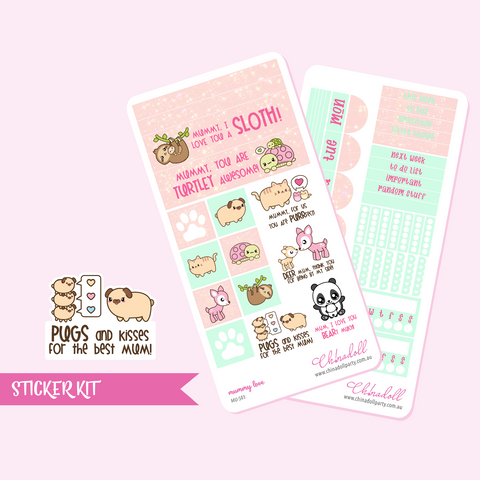 mummy love weekly sticker kit | hobonichi weeks | MU-503 and MU-504