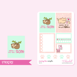 mummy love - sampler | sticker sheet | MU-951