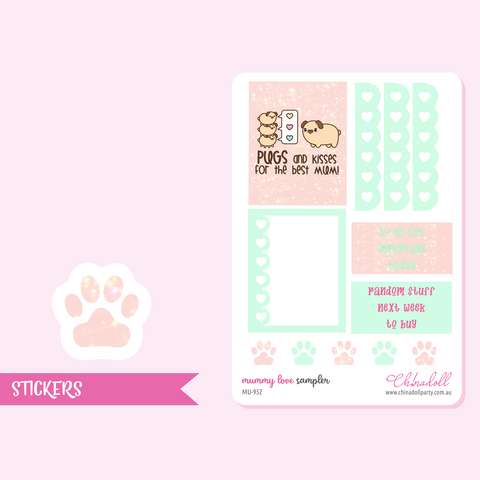 mummy love - sampler | sticker sheet | MU-952