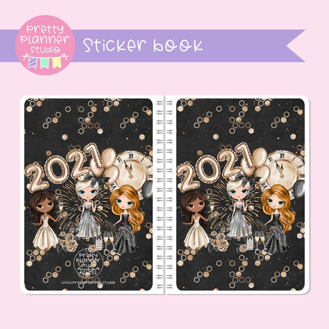 New year cheer - Friends | sticker book | NY-007/1