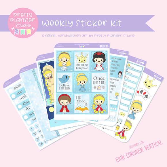 Once upon a time | weekly sticker kit | vertical |OU-131