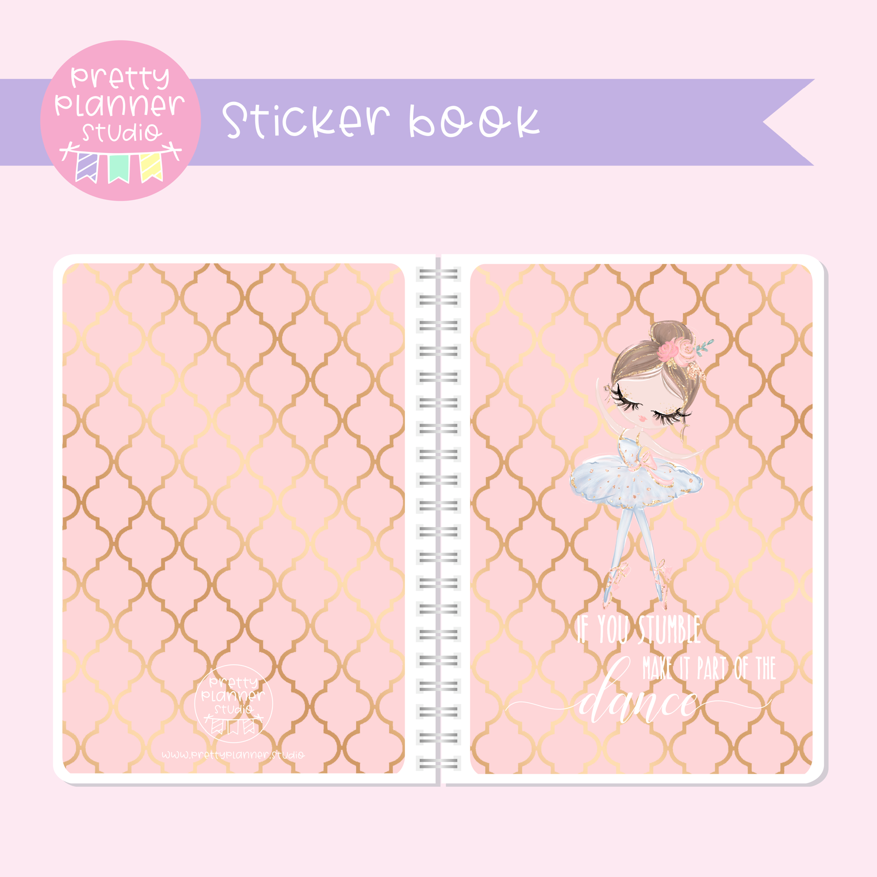 Prima ballerina - If you stumble | sticker book | PB-007/4