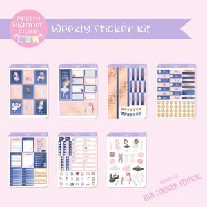 Prima ballerina | weekly sticker kit | vertical | PB-131