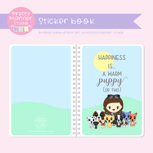 Poppy and friends - Happiness is a warm puppy | sticker book | PF-007/2
