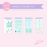 Poppy and friends | weekly sticker kit | Hobonichi Weeks | PF-211