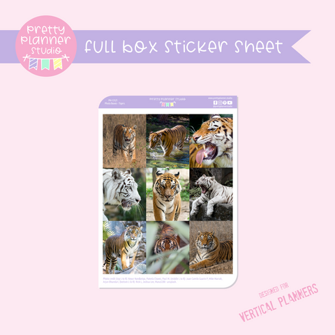 Photo boxes - tigers | full box sticker sheet | vertical | PH-131/1