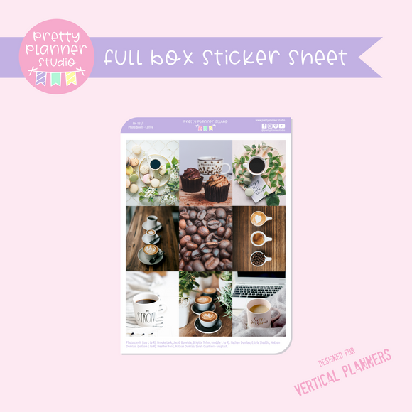 Photo boxes - coffee | full box sticker sheet | vertical | PH-131/5