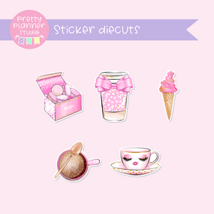 My pink boudoir - Treats | sticker diecuts | PI-005/2