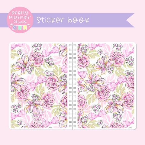 My pink boudoir - Floral | sticker book | PI-007/2