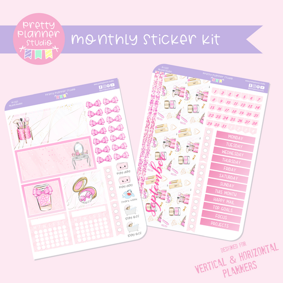 My pink boudoir | monthly sticker kit | vertical or horizontal | PI-132