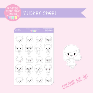 Planner friends - planner girls | sticker sheet | PL-004/1