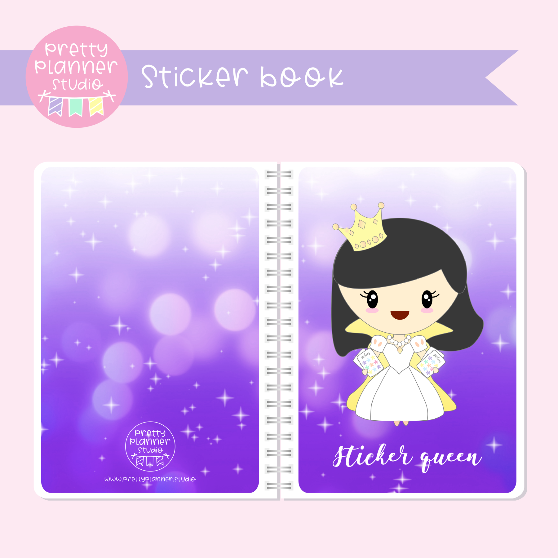Planner girls - Mila - Sticker queen | sticker book | PG-007/2