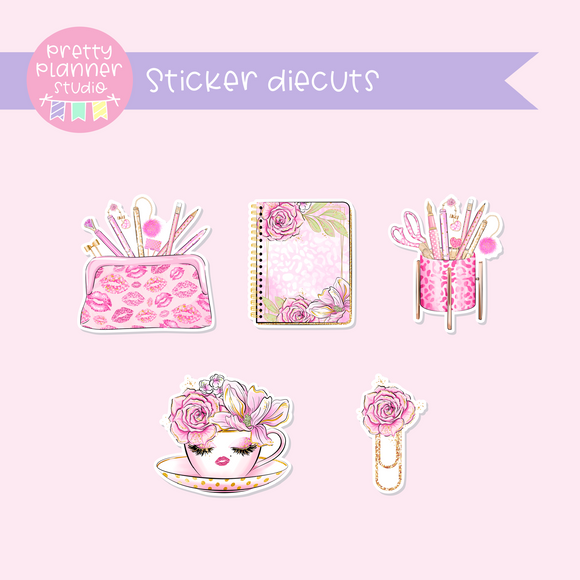 My pink boudoir - planning time | sticker diecuts | PP-005