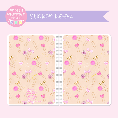 My pink boudoir - planning time - Pink planner clips | sticker book | PP-007/3