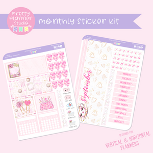 My pink boudoir - planning time | monthly sticker kit | vertical or horizontal | PP-132
