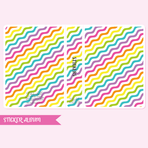 rainbow fun - waves | sticker album | RF-901