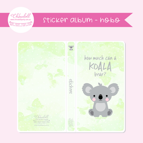 save our animals - how much can a koala bear? | sticker album - hobo weeks | SA-901