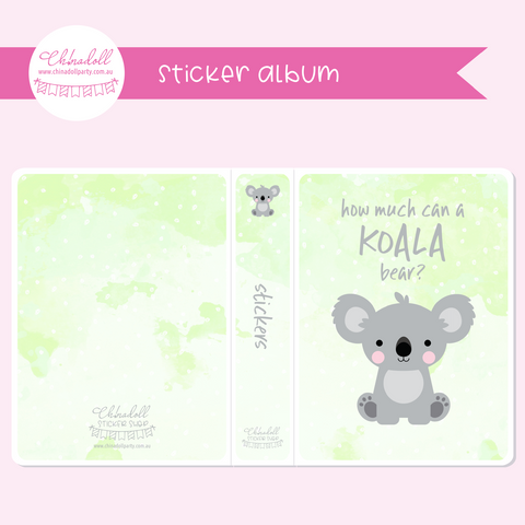 save our animals - how much can a koala bear? | sticker album | SA-901