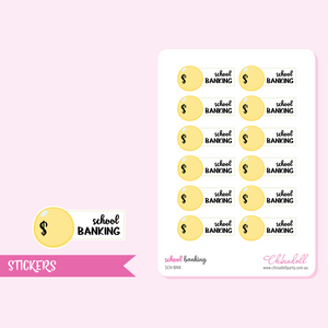 school - banking | sticker sheet | SCH-BNK