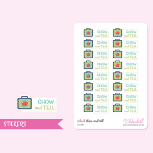 school - show and tell | sticker sheet | SCH-S&T