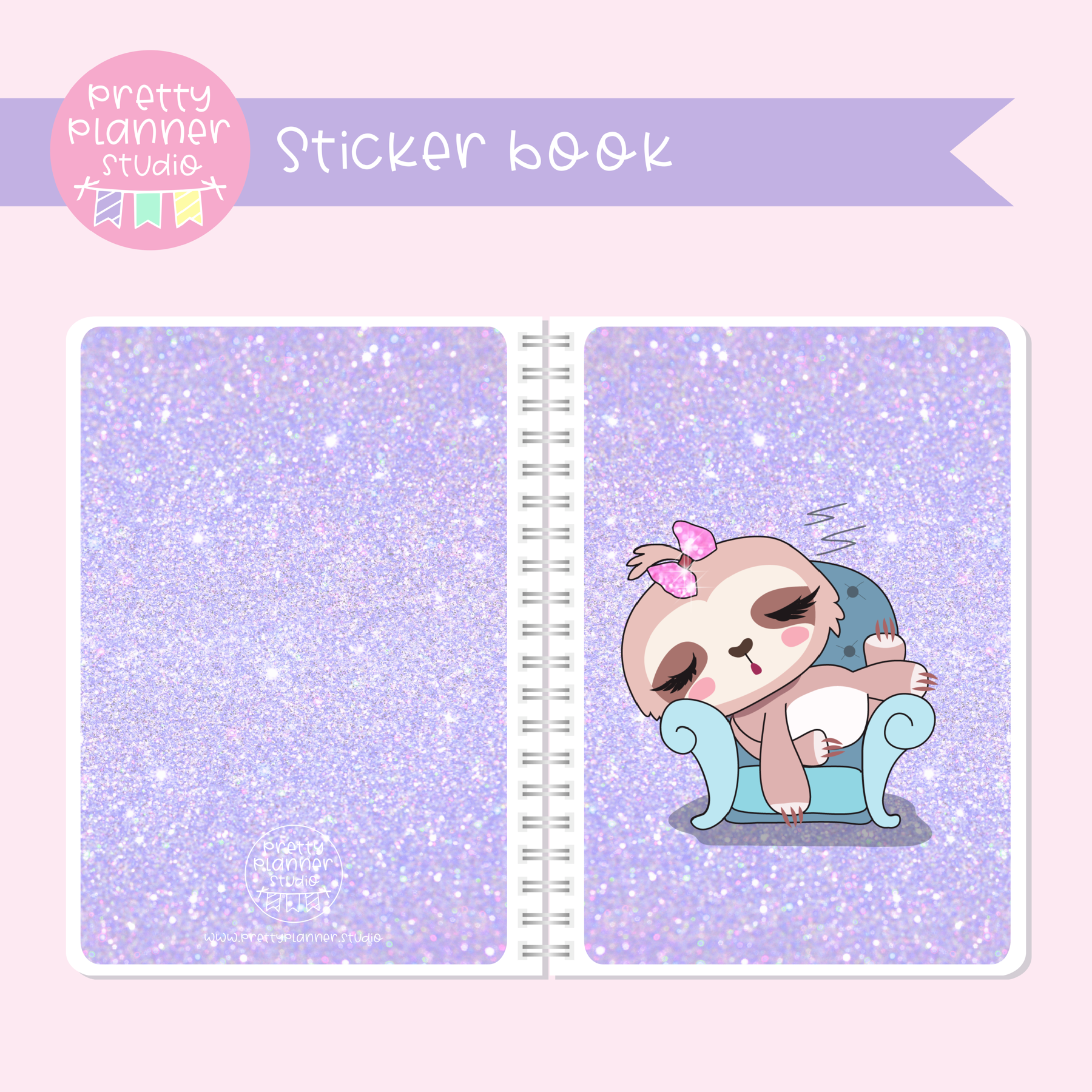 Sloth Life II - Lounging around | sticker book | SL-007/1
