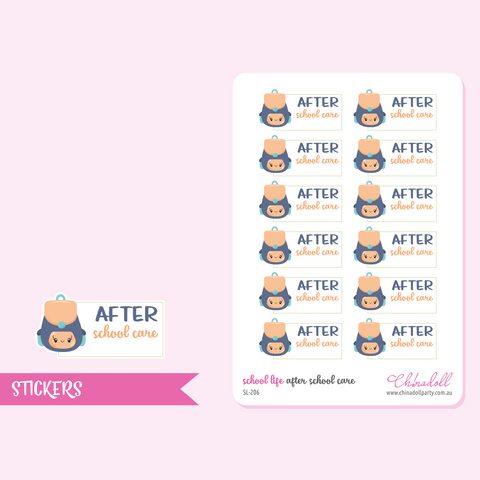 school life - after school care | sticker sheet | SL-206