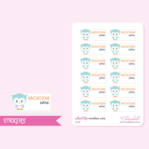 school life - vacation care | sticker sheet | SL-207