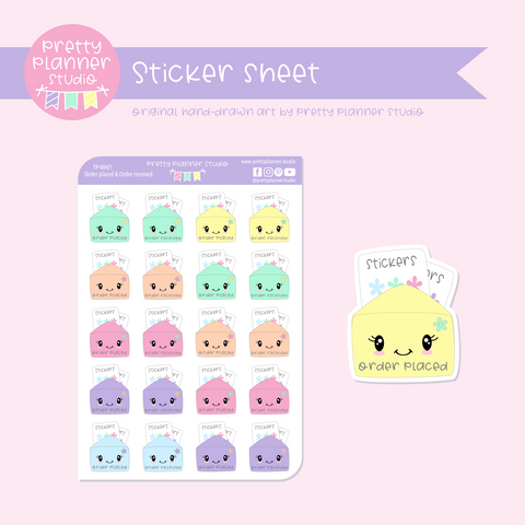 Time to plan - order placed / order received | sticker sheet | TP-004/1