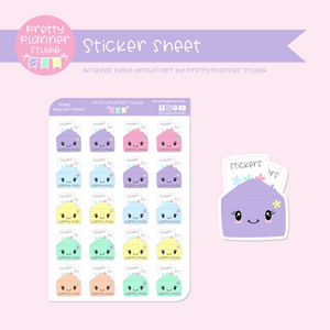 Time to plan - happy mail - envelope | sticker sheet | TP-004/2