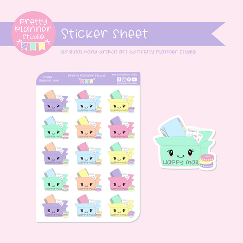 Time to plan - happy mail - parcel | sticker sheet | TP-004/3