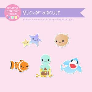 Under the sea | sticker diecuts | US-005