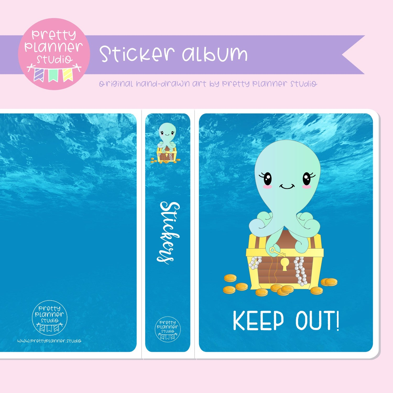 Under the sea - Keep out! | sticker album | US-006/1