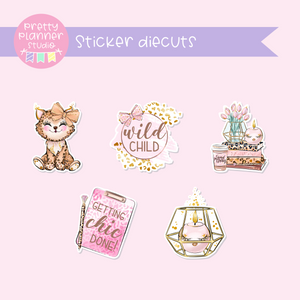 Wild & chic | sticker diecuts | WC-005