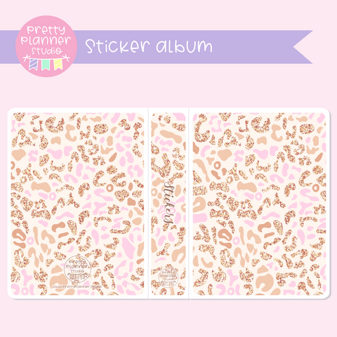 Wild & chic - Pink leopard | sticker album | WC-006/3