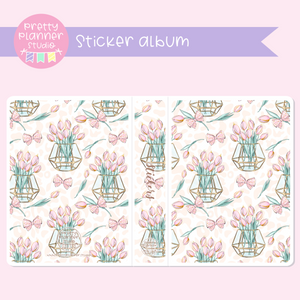 Wild & chic - Tulips | sticker album | WC-006/4
