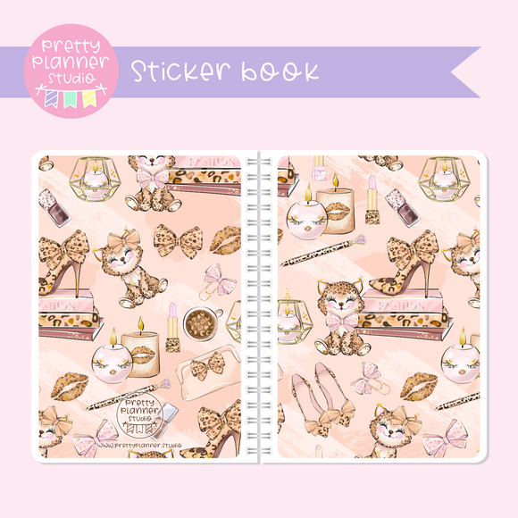 Wild & chic - Decor | sticker book | WC-007/2