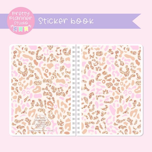 Wild & chic - Pink leopard | sticker book | WC-007/3