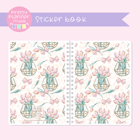 Wild & chic - Tulips | sticker book | WC-007/4