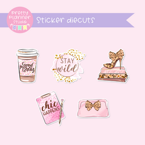 Wild & chic - fashion | sticker diecuts | WF-005
